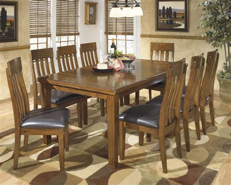 furniture 7 extension pub dining room set in signature design by ralene casual 9 dining set with butterfly extension leaf