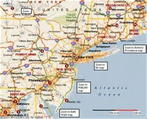 east coast map map travel holidaymapq