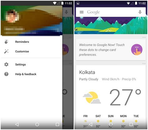 material design google now google now launcher update brings partial material design