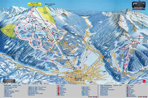 santa caterina ski map bormio santa caterina italy