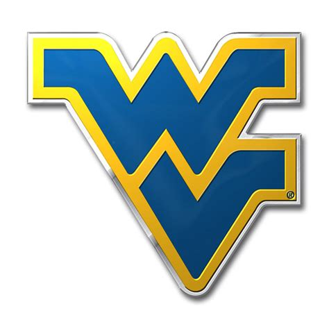 wvu colors west virginia mountaineers color auto emblem die cut