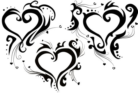 tribal tattoo heart designs tribal hearts by hitenshi16 on deviantart