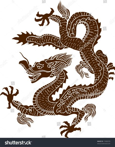 oriental design ancient chinese dragon on stock photo vector ancient chinese dragon pattern stock vector