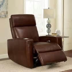 graham top grain leather media recliner