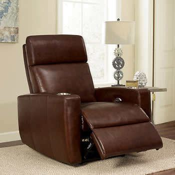 Leather Media Recliners graham top grain leather media recliner
