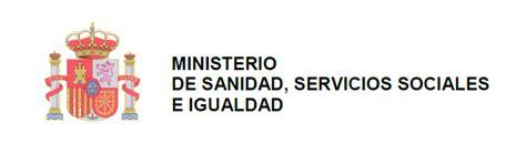 ministerio de sanidad servicios sociales e igualdad nota informativa de la organitzaci 243 nacional de