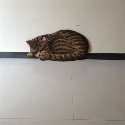85*45Cm Hot Cat Shape Home Decorative Mat Anti Slip