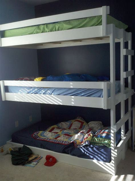 how to build a bunk bed saving space and staying stylish with triple bunk beds