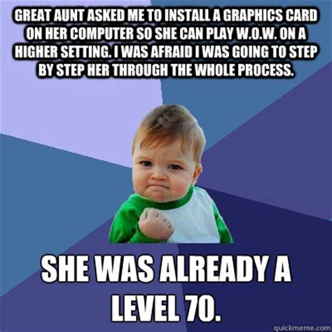 Aunt Meme - success kid memes quickmeme