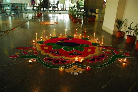 diwali home decoration with flowers images