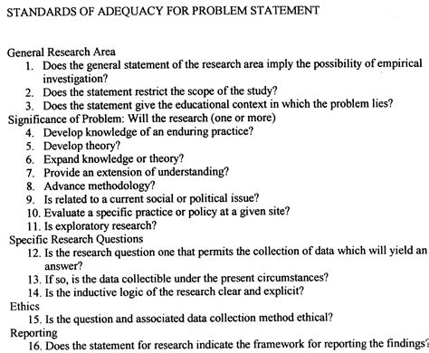 exle of problem statement in thesis exle of thesis paper statement of the problem