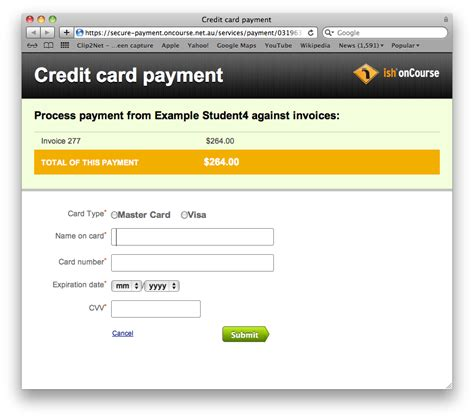 credit card payment images