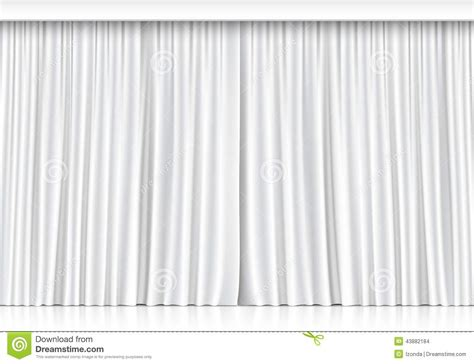 weisser vorhang vector white curtains isolated on white background stock