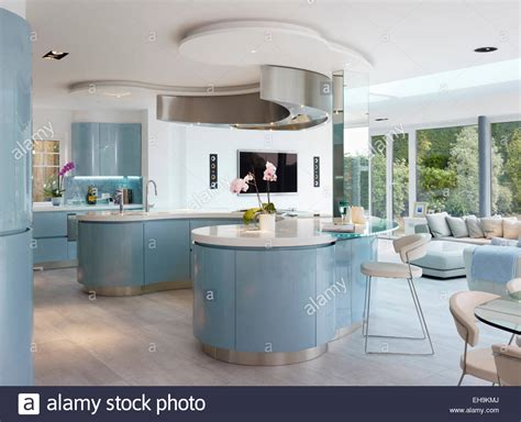 white kitchen island breakfast bar blue and white curved breakfast bar island in modern