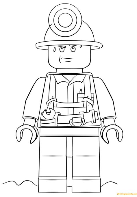 lego minions coloring pages lego city mini figure miner coloring page free coloring