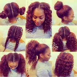 simple and versatile hair style 2 part vertical versatile sew in nyc natural hair