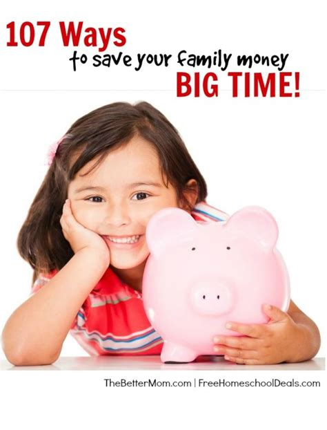 7 Ways To Your Money Big Time 107 ways to save your family money big time money saving