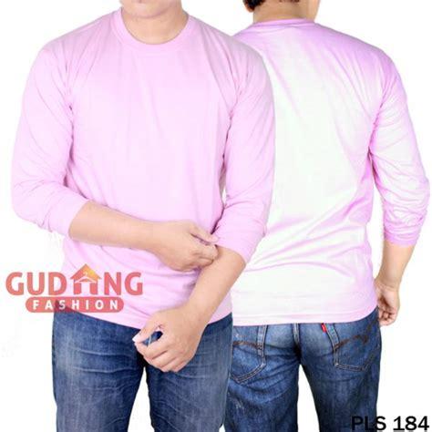 Kaos Polos Pink Xl atasan kasual kaos polos panjang pria cotton cardet pink