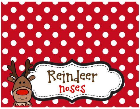 Reindeer Bag Printable | best photos of reindeer noses template printable