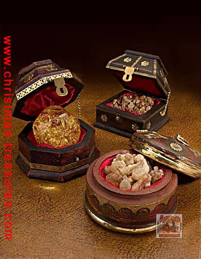 three kings gifts frankincense and myrrh gift chests
