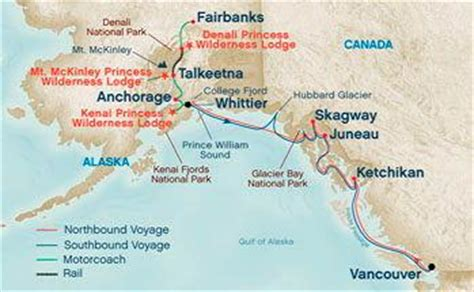 princess cruises routes map of alaska cruise routes pictures to pin on pinterest