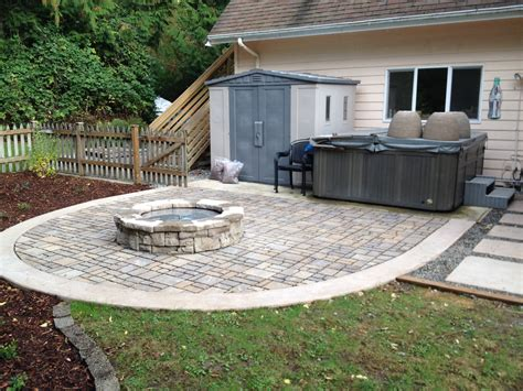 paver pits paver patio gas firepit and cip pavers