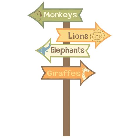 Repositionable Wall Stickers zoo signs giant removable wall decal wall2wall