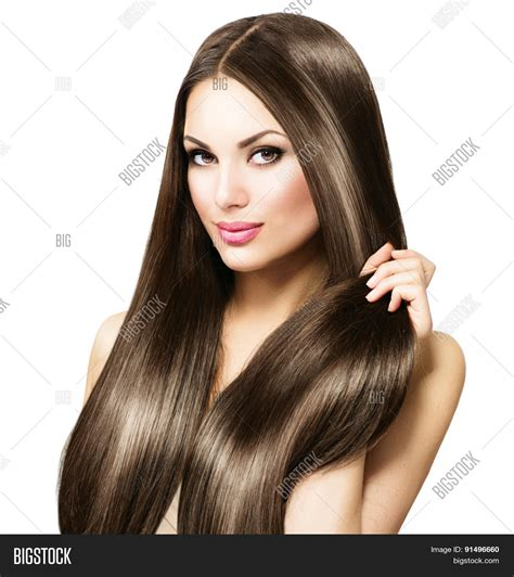 models with stright hair beauty model girl healthy brown image photo bigstock