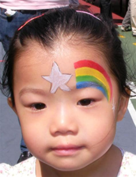 Printable Cheek Art Designs star face painting for children designs tips and tutorials