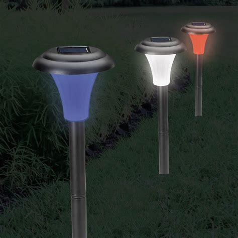 Patriotic Solar Accent Lighting Set Of Six Kennesaw Solar Accent Lighting