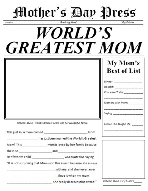Free Printable Newspaper Template For Students by Best Photos Of Fill In Newspaper Template Newspaper