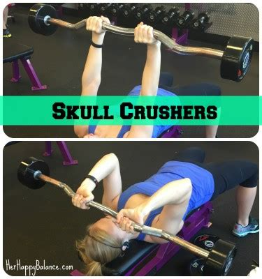 skull crushers on incline bench upper body workout routine planet fitness sport fatare