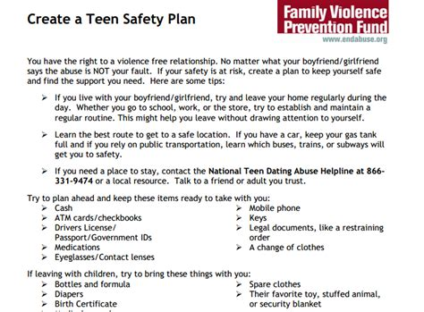 domestic violence safety plan template create a safety plan futures without violence