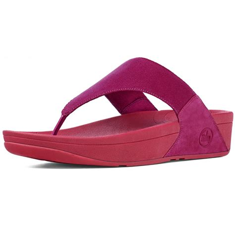 lulus sandals fitflop sandal lulu pink canvas toe post sandals