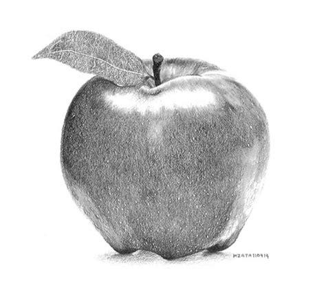 Pencil Drawing Apple an apple wetcanvas