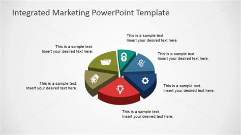 3d Pie Chart For Powerpoint With Icons Slidemodel Pie Chart Template Powerpoint