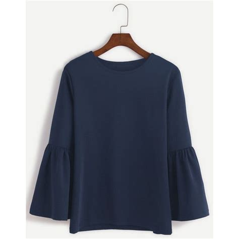 vanna bell sleeve blouse navy navy neck bell sleeve t shirt 12 liked on