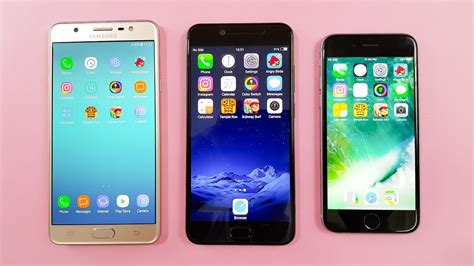 samsung j7 max vs vivo v5s vs iphone 6 speed test comparison which is faster