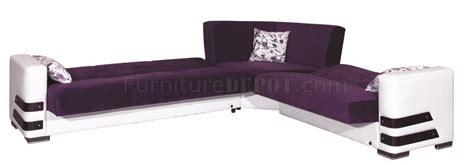 purple microfiber couch safir sectional sofa convertible in purple microfiber by rain