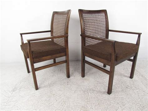 cane back dining room chairs set of six mid century modern cane back dining chairs by