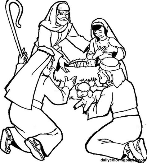 angels visit shepherds coloring page shepherds visit the baby coloring page journey to