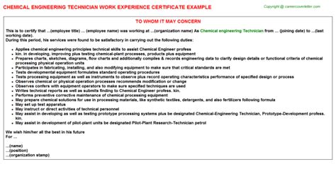 Experience Letter Electrical Engineer Osobosterling