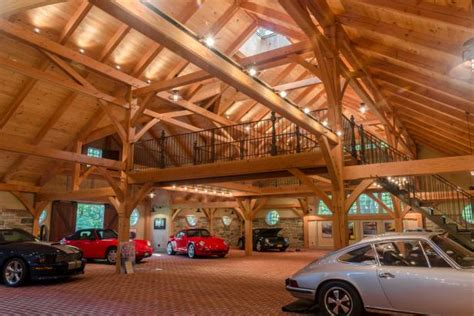 Log Cabin Garage Plans by High End Car Garage Resembles Historic Stone Barn 2015
