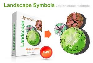 Easiest 3d Design Software creating garden plans with hand drawing landscape symbols