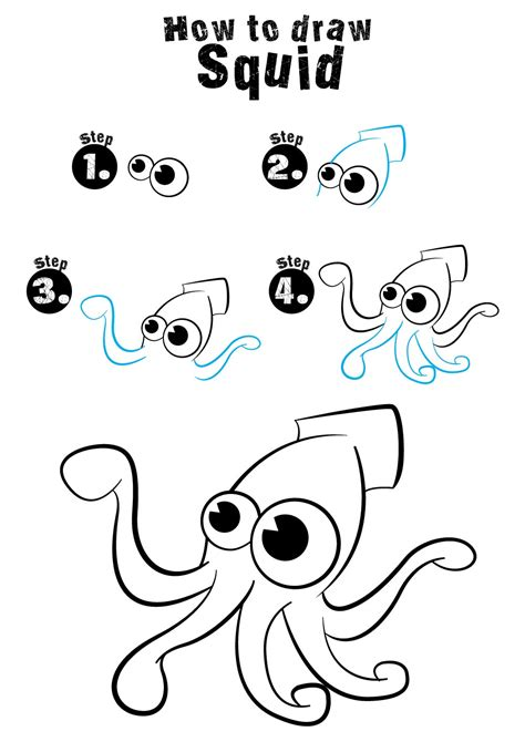 easy kids drawing lessons how to draw a cartoon house how to draw squid easydrawingforkids com