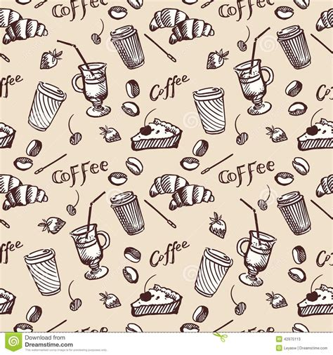seamless pattern coffee seamless cupcake pattern vector illustration