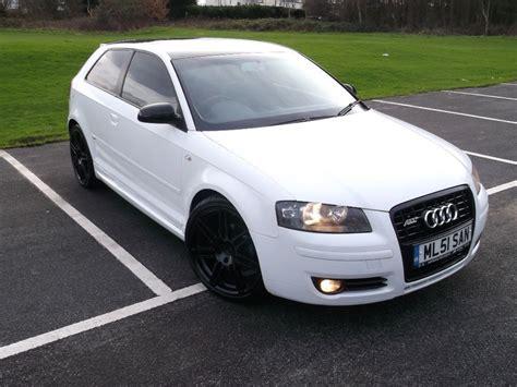 Audi A3 Weis l k white audi a3 2 0 tdi 200 bhp white s line abt kit