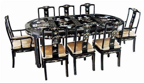 oriental dining room set elegant 9 pcs dining room set oriental furniture ebay
