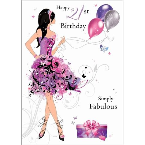 Happy 21st Birthday Wishes To My Lovely E Card 21st Birthday Wishes For Fabulous