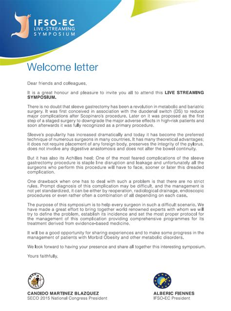Patient Endorsement Letter welcome letter ifso ec